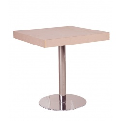 TABLE BAR PIED MÉTALLIQUE 70X70