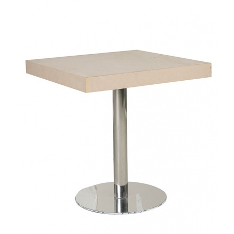 TABLE BAR PIED MÉTALLIQUE 80X80