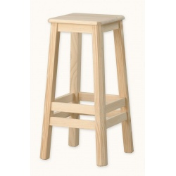TABOURET BAR DOUBLE CERCE 75 CM.